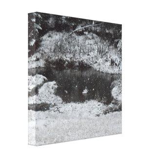 Impressão Em Tela Manhã nevado da montanha