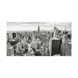 Impressão Em Tela Manhattan, New York (panorama preto & branco)