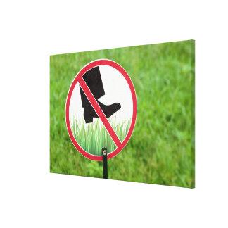 Impressão Em Tela Mantenha do sinal da grama