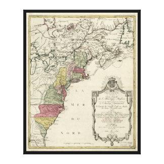 Impressão Em Tela Mapa colonial de América por Matthaus Lotter