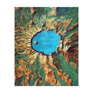 Impressão Em Tela Mapa de alivio do parque nacional do lago crater