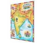 Impressão Em Tela Mapa de India