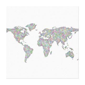 Impressão Em Tela Mapa do mundo