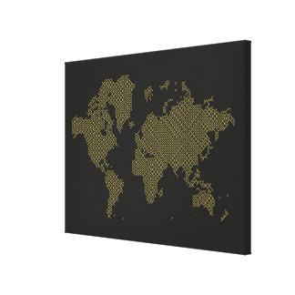 Impressão Em Tela Mapa do mundo de Digitas