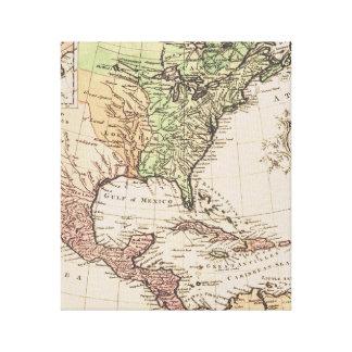 Impressão Em Tela Mapa do mundo novo da geografia legal do vintage