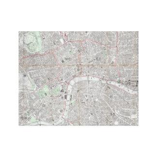Impressão Em Tela Mapa do vintage da cidade de Londres