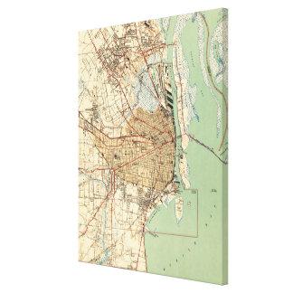 Impressão Em Tela Mapa do vintage de Alabama móvel (1940) 2