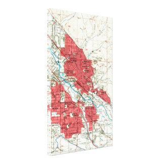 Impressão Em Tela Mapa do vintage de Boise Idaho (1954)