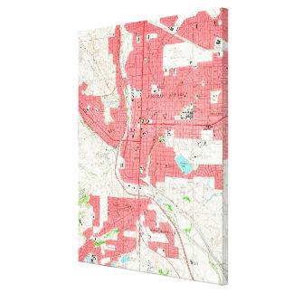 Impressão Em Tela Mapa do vintage de Colorado Springs CO (1961)