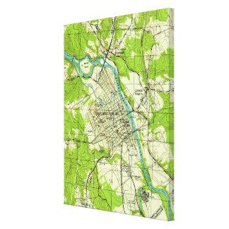 Impressão Em Tela Mapa do vintage de Fredericksburg Virgínia (1944)