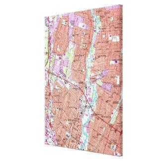 Impressão Em Tela Mapa do vintage de Hackensack NJ (1955)