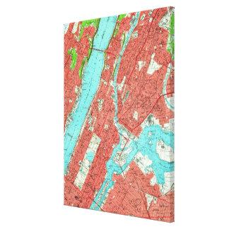 Impressão Em Tela Mapa do vintage de Manhattan da parte alta da