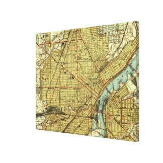 Impressão Em Tela Mapa do vintage de Toledo Ohio (1938)