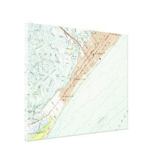 Impressão Em Tela Mapa do vintage de Wildwood NJ (1955)