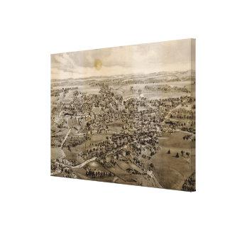 Impressão Em Tela Mapa pictórico do vintage de Kennebunk Maine