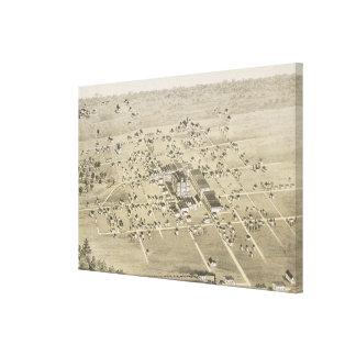 Impressão Em Tela Mapa pictórico do vintage de McKinney Texas (1876)