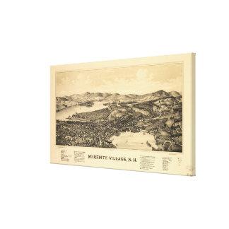 Impressão Em Tela Mapa pictórico do vintage de Meredith NH (1899)