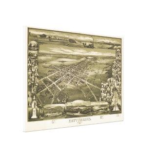 Impressão Em Tela Mapa pictórico do vintage de PA de Gettysburg