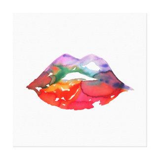 Impressão Em Tela Marcagem com ferro quente da composição dos lábios
