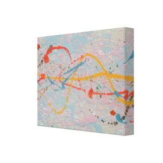 Impressão Em Tela Meios abstratos da mistura da pintura