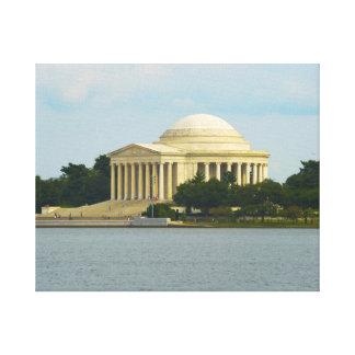 Impressão Em Tela Memorial de Jefferson no Washington DC