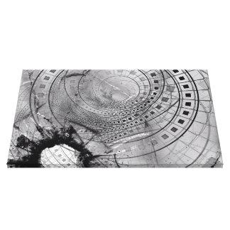 Impressão Em Tela Memórias fragmentadas do Fractal e vidro quebrado