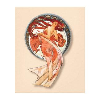 Impressão Em Tela Menina de dança bonita de Nouveau da arte retro do