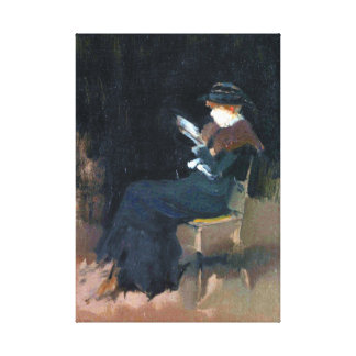 Impressão Em Tela Menina do assobiador de James McNeill na leitura