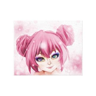 Impressão Em Tela Menina do Pastel de Kawaii