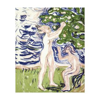 Impressão Em Tela Meninas de Edvard Munch que escolhem maçãs