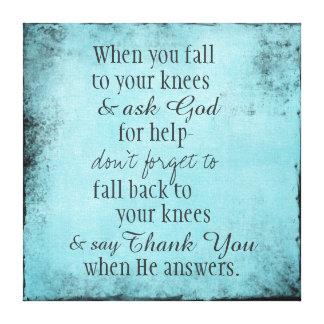 Impressão Em Tela Mensagem cristã inspirada das citações