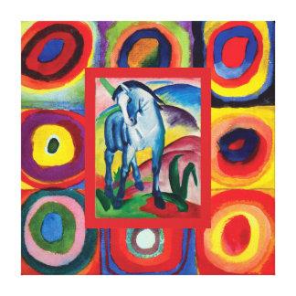 Impressão Em Tela Meu cavalo azul astuto