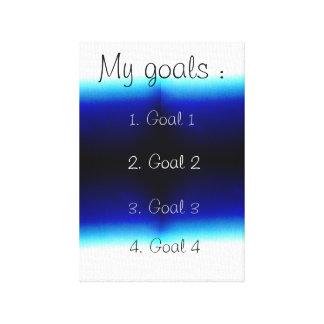 Impressão Em Tela Meus objetivos