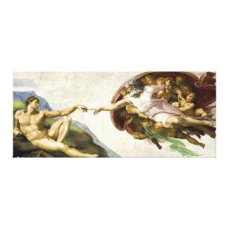 Impressão Em Tela MICHELANGELO - a criação de Adam 1512