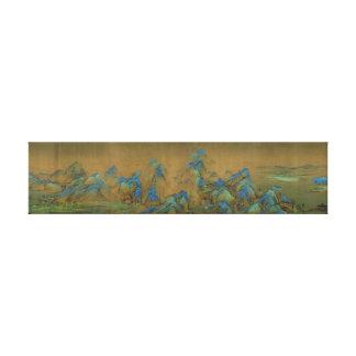 Impressão Em Tela Mil Li dos rios e das montanhas
