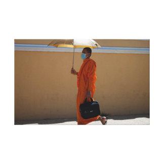 Impressão Em Tela Monge budista