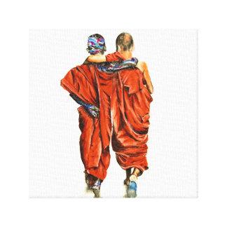 Impressão Em Tela Monges budistas