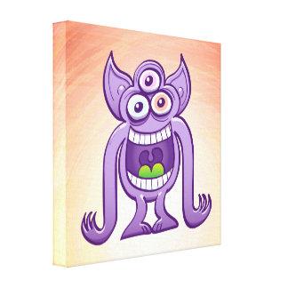 Impressão Em Tela monstro estrangeiro Três-eyed que ri perniciosa