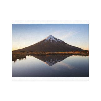 """Impressão Em Tela Montanha 14"""" de Nova Zelândia x 11"""", 1,5"""","""