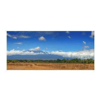 Impressão Em Tela Montanha África de Kilimanjaro