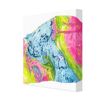 Impressão Em Tela Montanha colorida da arte abstrata da aguarela