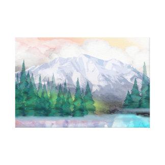 Impressão Em Tela Montanha majestosa