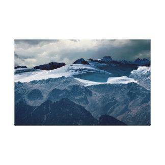 Impressão Em Tela montanha nevado no inverno