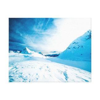 Impressão Em Tela Montanhas da neve   da fotografia   da natureza