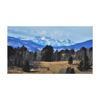 Impressão Em Tela Montanhas de Colorado