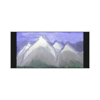 Impressão Em Tela Montanhas de Colorado (aguarela abstrata)