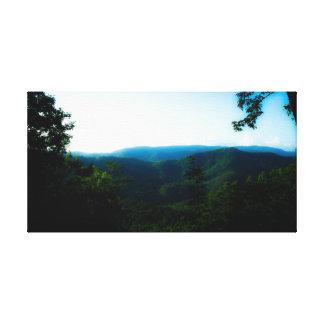 Impressão Em Tela Montanhas de Smokey