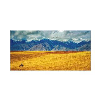 Impressão Em Tela Montanhas do céu   da paisagem  