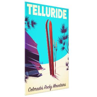 Impressão Em Tela Montanhas rochosas do esqui do Telluride