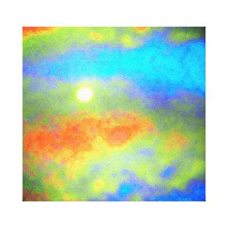Impressão Em Tela Moonglow através das nuvens